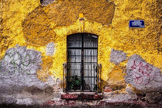 Adobe, Azul, Ciudad, Colorido, Deteriorado, Graffiti