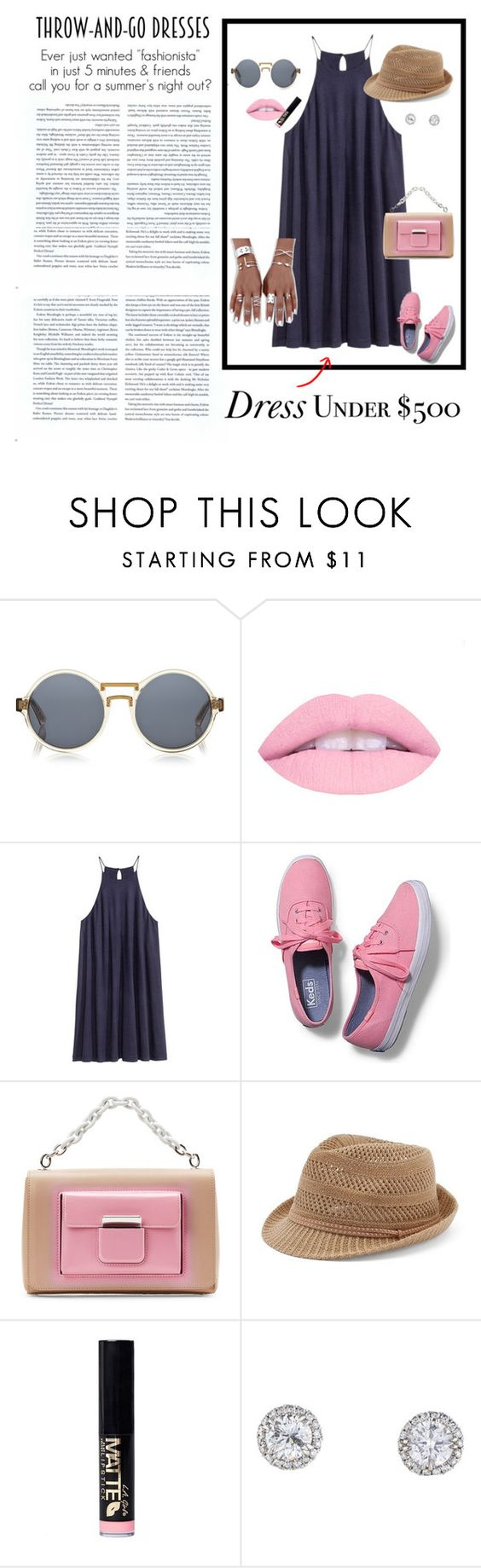 """""""Contest Entry: Throw and Go Dresses"""" by kedalove ❤ liked on Polyvore featuring Finlay & Co., H&M, Keds, Balenciaga and Candie's"""