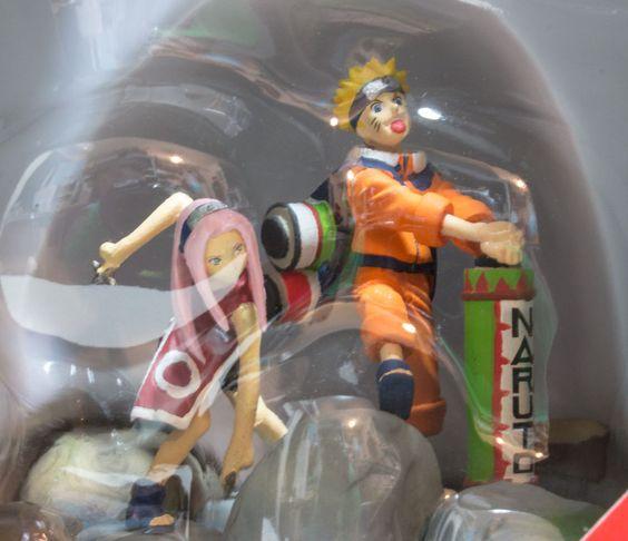 Naruto Polystone Collection Figure Naruto&Sakura Vol.1 BANDAI JAPAN ANIME MANGA