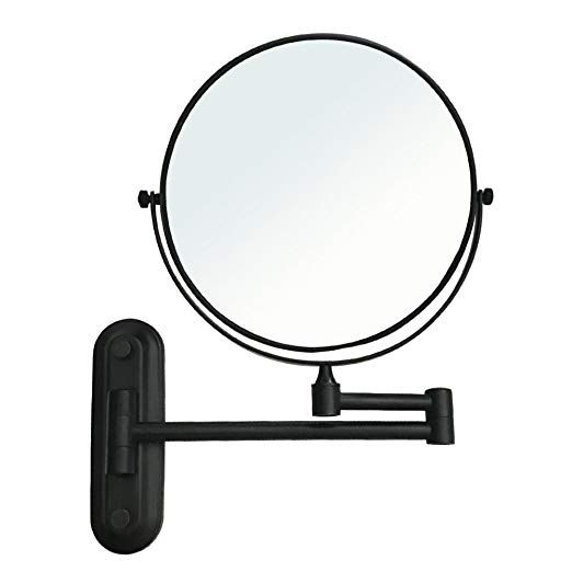 Gecious Wall Mount Vanity Makeup Magnifying Mirror Black 1x 10x Magnification 360a Swivel 12 Wall Mounted Vanity Wall Mounted Makeup Mirror Magnifying Mirror