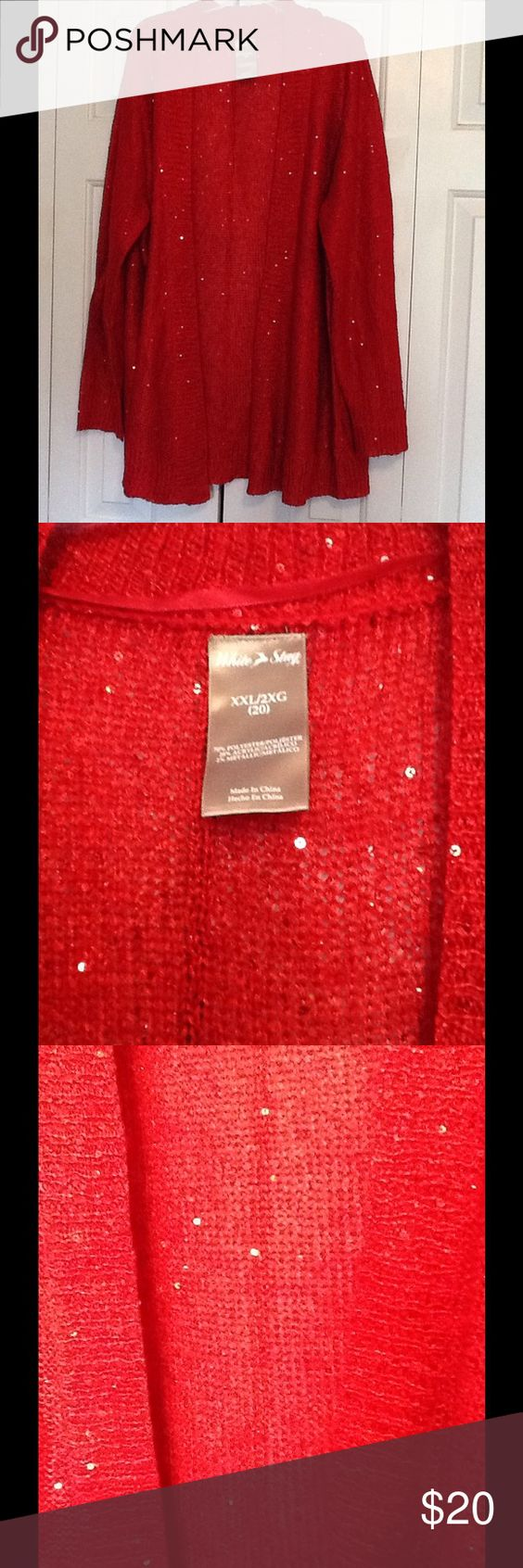 Red Sequin Cardigan | Cold weather, Sequins and Weather