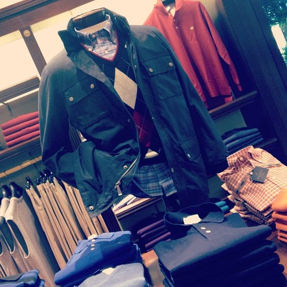 A classic menswear look from Brooks Brothers!