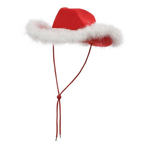 Cowboy-Hut mit Federbesatz Weihnachten
