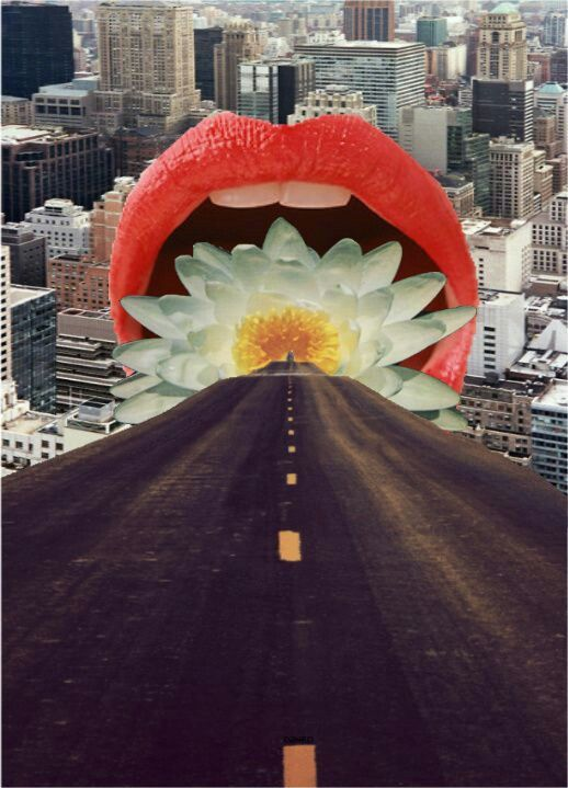 """Road Into """"Mouth"""" Of The City Collage"""