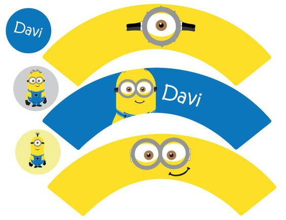 Kit Festa Infantil - Minions | Cookie Ideias - loja virtual | 33F620 - Elo7