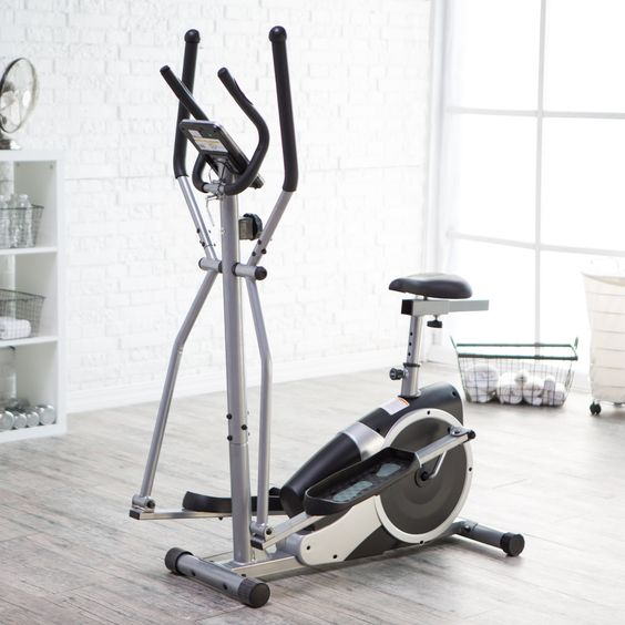 Body Champ BRM2720 Magnetic Elliptical Dual Trainer with Seat | from hayneedle.com