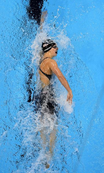 Katie Ledecky of the United States competes in the Women's 800m Freestyle Final…