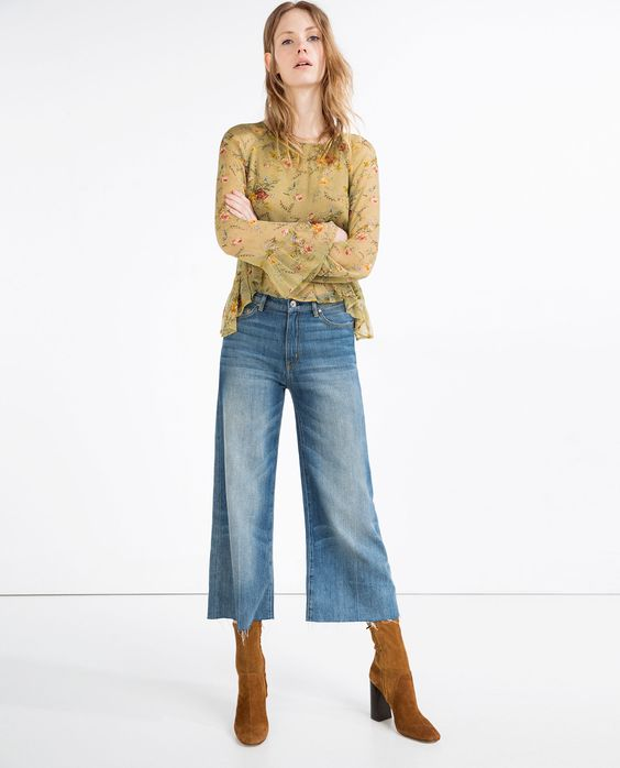 FLORAL BLOUSE - View All - TOPS - WOMAN   ZARA United States
