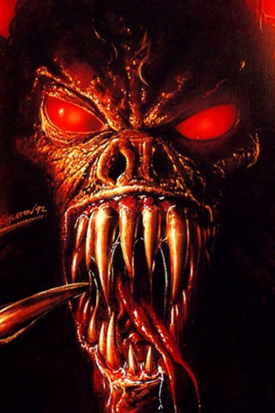 Image result for red monster with teeth
