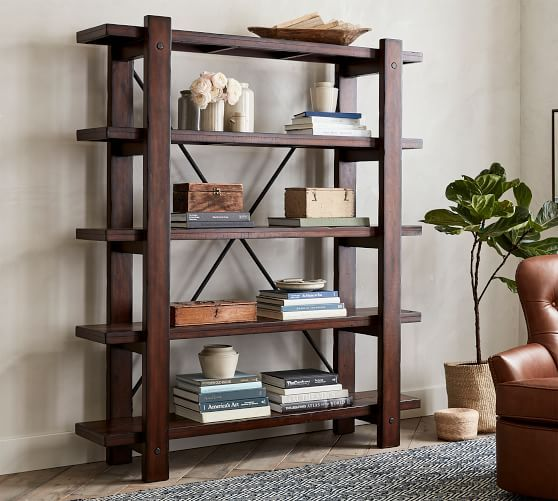 Benchwright Bookcase Wood Shelves Barn Furniture Furniture