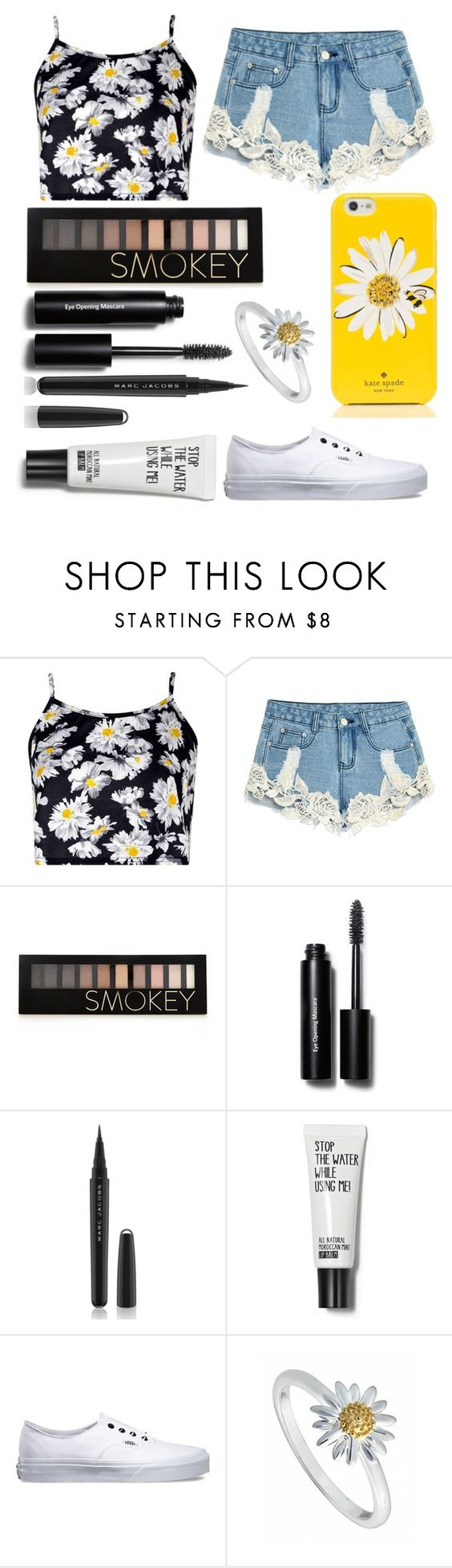 """Daisy"" by fangirlsfandom ❤ liked on Polyvore featuring мода, Boohoo, Forever 21, Bobbi Brown Cosmetics, Marc Jacobs, Vans, Daisy Jewellery, Kate Spade, women's clothing и women"