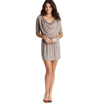 Tall Cowl Neck Knit Dress