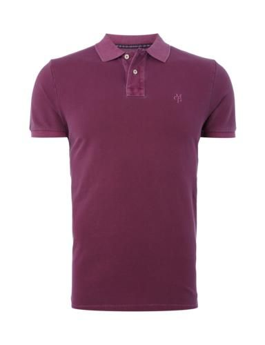 MARC-O-POLO Poloshirt im Washed Out-Look in Rot online entdecken (9465776) | P&C Online