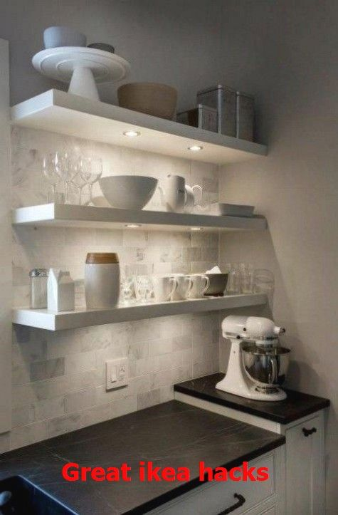 Great Ikea Hacks Ikeahackideas Ikea Lack Shelves Floating