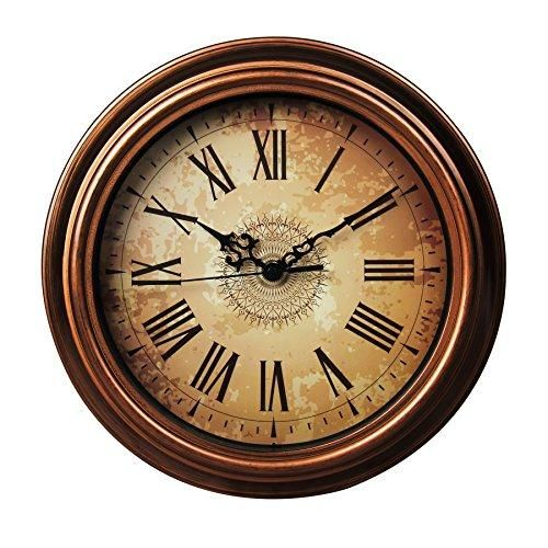 Sonyo Silent Non Ticking Round Wall Clocks 12 Inches Decorative Vintage Style Roman Numeral Clock Clock Decor Wall Clock Silent Clock