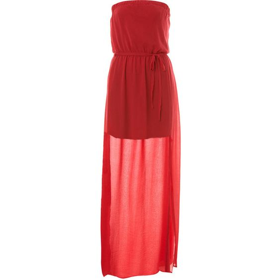 Rose Column Maxi Dress (€30) ❤ liked on Polyvore featuring dresses ...