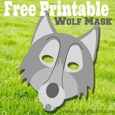 This wolf mask would make a great Halloween mask for any child - make one with this free printable!