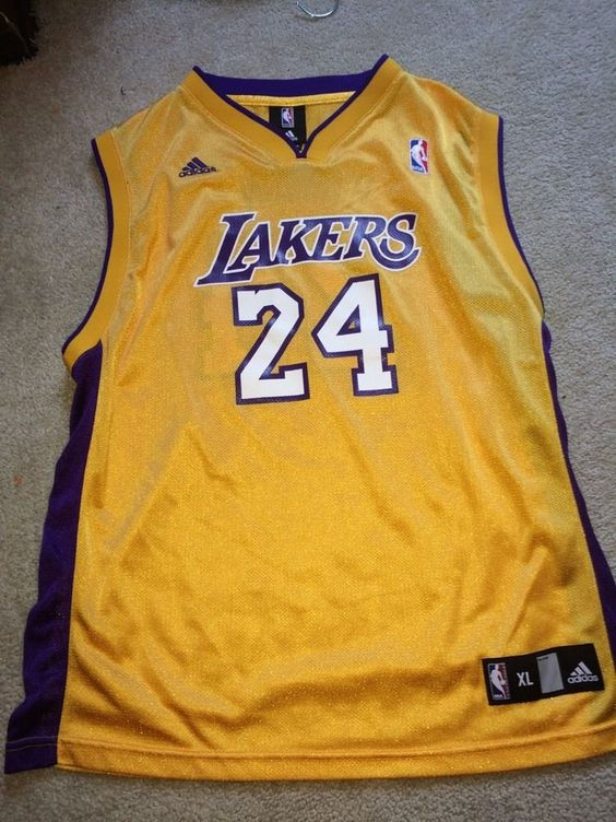 Men's Adidas Kobe Bryant Los Angeles Lakers Jersey Gold Size Xl S from $29.99