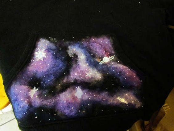 DIY Star Swirled Hoodies - Create Your Own Enticingly Glow in the Dark DIY Galaxy Sweatshirts (GALLERY)