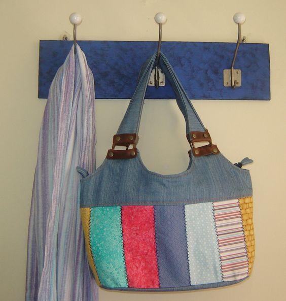 Bolsos con retazos de tela hazlo tu mismo pinterest - Manualidades patchwork bolsos ...