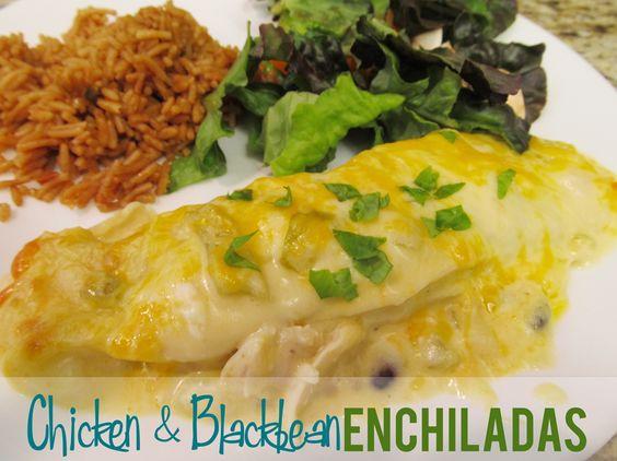 chicken and blackbean enchiladas