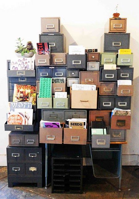 Cabinets offices and craft room storage on pinterest - How to organize your desk at home for school ...