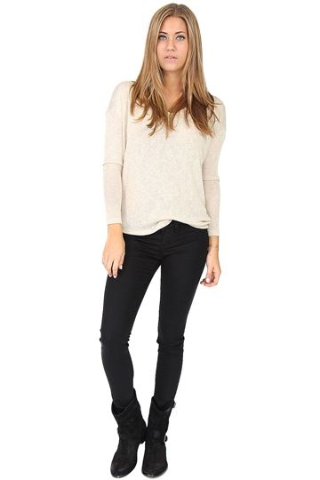 Taupe Dolman Sleeve Top at Blush Boutique Miami - ShopBlush.com