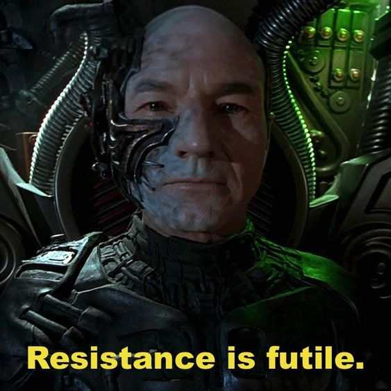 borg-resistance is futile