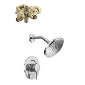 Moen Align Moentrol Polished Chrome Bathtub And Shower Faucet Kit With Valve 3520 T3292 3520 L Shower Faucet Faucet Polished Chrome