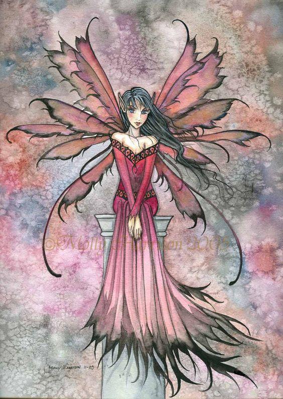 Violet and Ebony..... Molly Harrison: Fairy Art