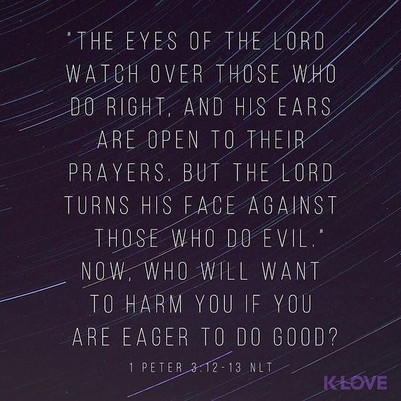 VERSE OF THE DAY via @youversion  ENCOURAGING WORD OF THE DAY via @kloveradio  because the eyes of the Lord are on the righteous and His ears are open to their request. But the face of the Lord is against those who do what is evil. And who will harm you if you are deeply committed to what is good? 1 Peter 3:12-13 HCSB  http://ift.tt/1H6hyQe  Facebook/smpsocialmediamarketing  Twitter @smpsocialmedia  #Bible #Quote #Inspiration #Hope #Faith #FollowMe #Follow #Tulsa #Twitter #VOTD
