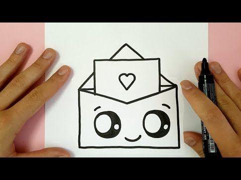 Como Dibujar Carta Kawaii Paso A Paso Dibujos Kawaii Faciles