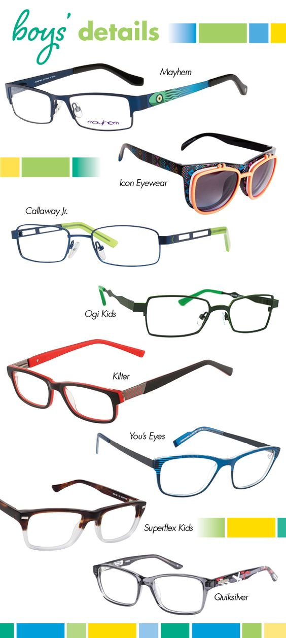 Sprightly cut-out and curved temples, nifty clip-on lenses, zizag and linear accents, two-toned and glossy effects