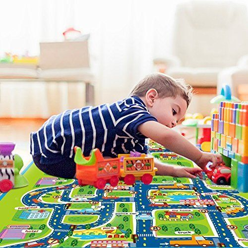 Luerme Folding Play Mat Thick Extra Large Foam Playmat Baby Crawling Mat Carpet Throw Rugchildreneducationalroadtrafficp Kid Toy Storage Play Mat Crawling Baby