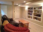 Interior painting, basement, Sherwin Williams, Nantucket Dune and Nacre