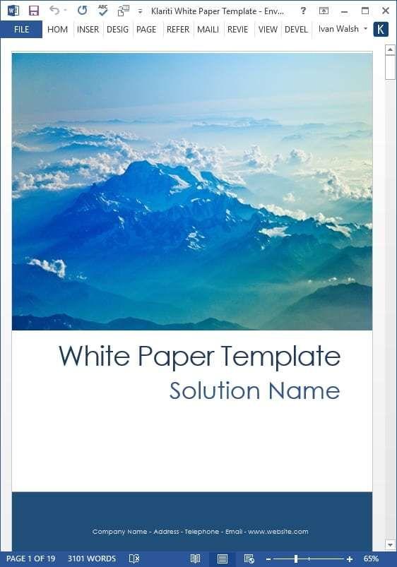 White Paper Templates Free Sample Templates Paper Template Free Study Guide Template Paper Template