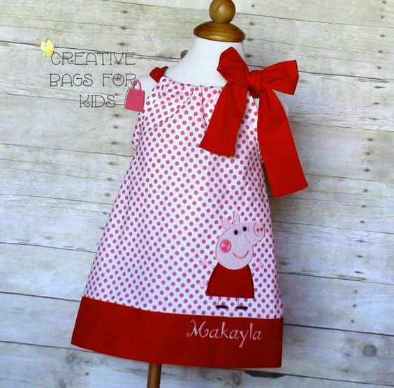 Peppa Pig Dress/ Peppa Pig Outfit/ Peppa by CreativeBagsForKids
