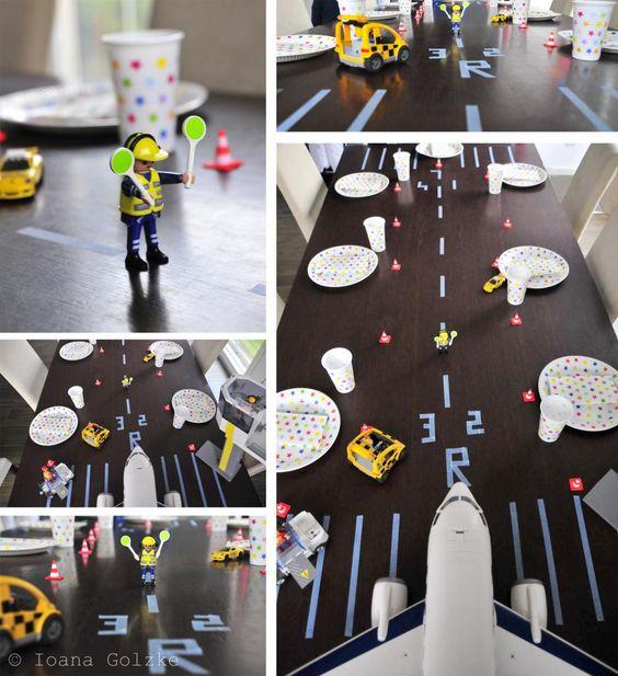 Happy Birthday am Flughafen - Flugzeug / Planes Birthday Party / Kindergeburtstag