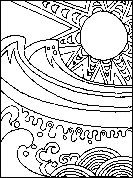 Stunning Free Ocean Coloring Pages 19 Sun and ocean abstract