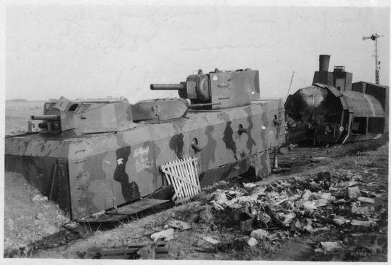 A Soviet armoured train