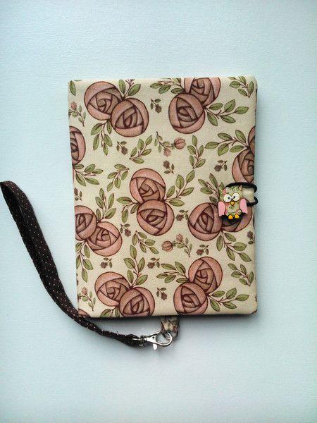 Capa para e-reader - Floral Vintage ( tecido Digital)