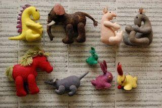 Wet felt toys