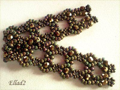 Tutorial Lace Flowers Bracelet  Bead pattern by Ellad2 on Etsy, $5.00