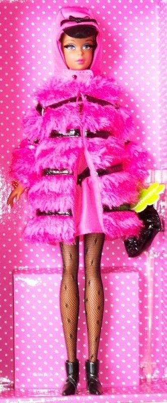 """ Fuchsia 'N Fur "" Pelz FRANCIE AA SILKSTONE BARBIE 2012 CLUB SHIPPER | eBay"