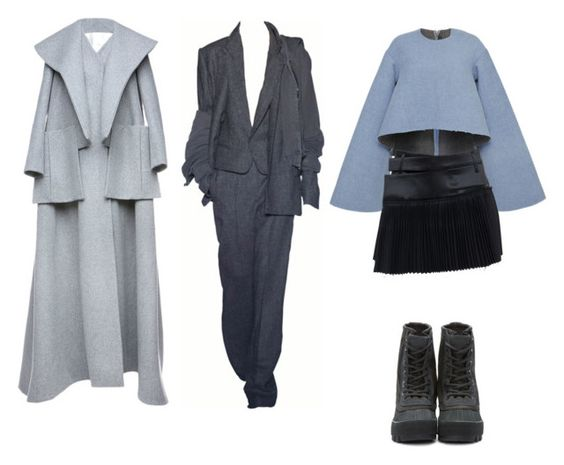 """""""Hues in my blues"""" by astrro on Polyvore featuring Dice Kayek, E L L E R Y, Haider Ackermann and adidas Originals"""