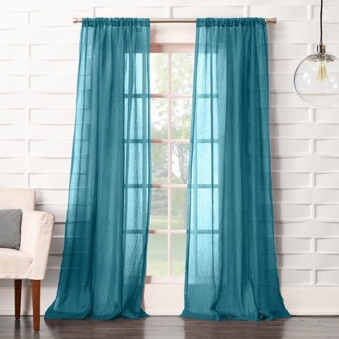 Avril Crushed Texture Light Filtering Rod Pocket Curtain Panel No 918 Rod Pocket Curtain Panels Rod Pocket Curtains Panel Curtains
