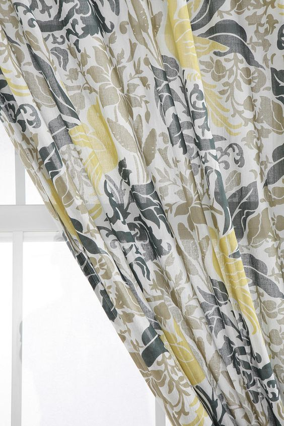 Kitchen Curtains bird kitchen curtains : Bird Flourish Curtain | Urban outfitters, Grey curtains and Grey