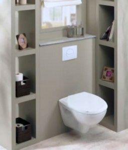 habillage wc suspendu penser aux niches de rangement pour la cloison wc baignoire - Separation Baignoire Wc