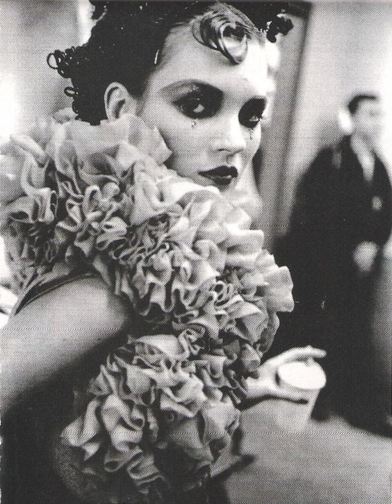Kate Moss backstage at Galliano F/W 1995 via Andi Belle