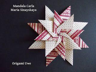 Origami e Fleurogami: Mandala di Carla UR Fleurogami